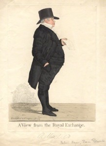 NPG D13492; Nathan Meyer Rothschild ('A view from the Royal Exchange') by and published by Richard Dighton