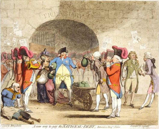 A new way to pay the National Debt. Gillray.