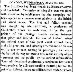 Waterloo June 21 1815