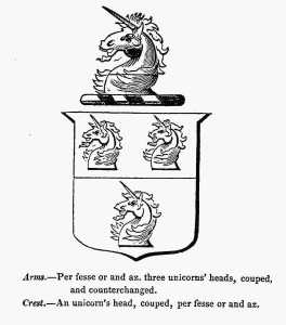 Crest and arms RUTTON