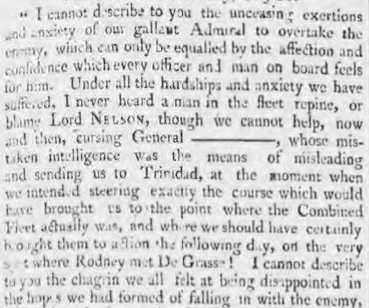 Morning Chronicle - Mon 12 August 1805