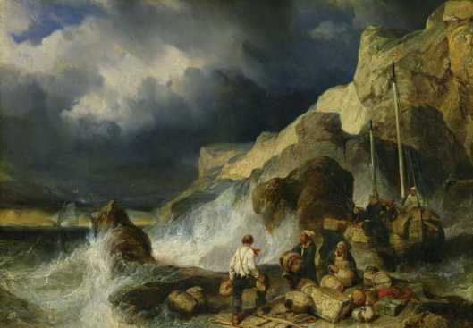 onslaught of smugglers Louis Gabriel Isabey