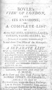 Boyle's lists of London Life