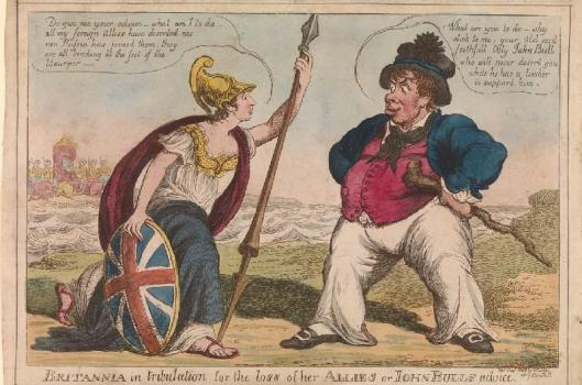 Britannia in tribulation gets John Bull's advice