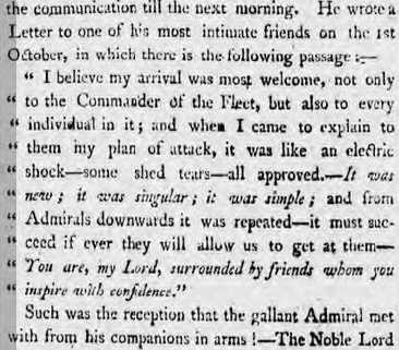 Morning Chronicle - Friday 22 November 1805
