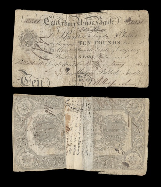 Canterbury Union £10 note 1840