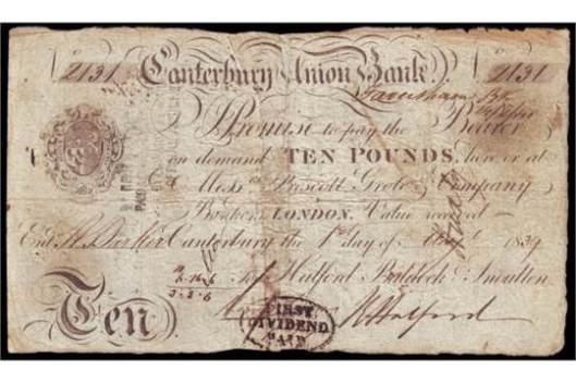 Cantab Union Bank £10 note